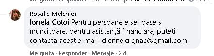 exemplu de mesaj de necrezut in Facebook